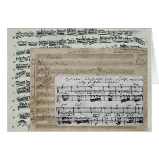 Music Manuscripts Greeting Card