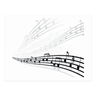 Music Notes ~ Musical Notation Symbols Postcard