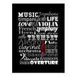 Music Orchestra Postcard