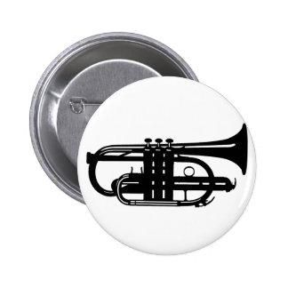 Musical instrument cornet - Musicians 6 Cm Round Badge