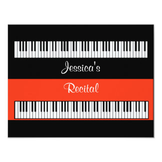 Musical Keyboard Piano Recital Or Party INVITATION