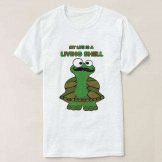 Mustache Turtle Living Shell T-shirts