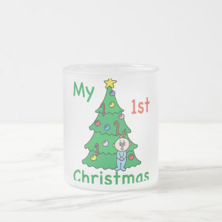 My 1st Christmas Cup Frosted Glass Mug