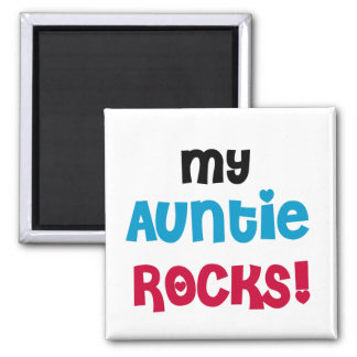My Auntie Rocks Tshirts and Gifts Square Magnet