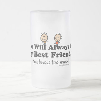 My Best Friend Frosted Glass Mug