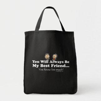 My Best Friend Grocery Tote Bag