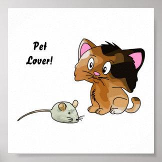 My Cat Loves Mice Poster