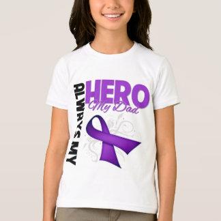 My Dad Always My Hero - Purple Ribbon Tees
