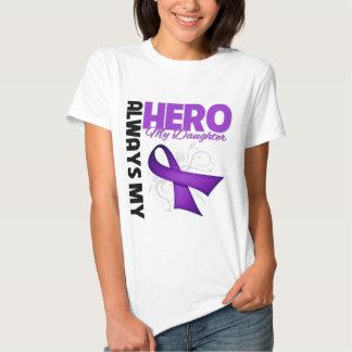 My Daughter Always My Hero - Purple Ribbon Shirts