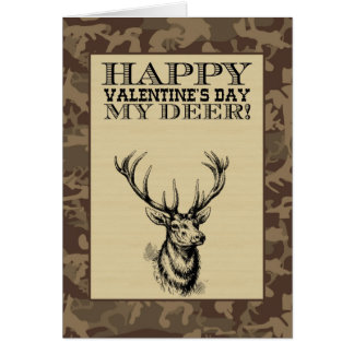 My Deer   Valentine's Day Note Card