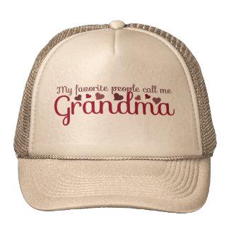 My favorite people call me Grandma Cap