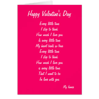 My fiance valentine's day greeting card