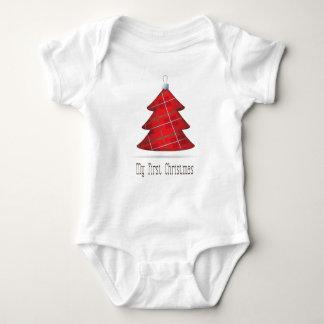 My First Christmas Tartan Tree T Shirts