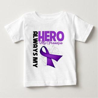 My Grandpa Always My Hero - Purple Ribbon Infant T-Shirt