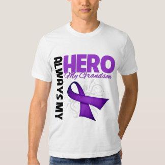 My Grandson Always My Hero - Purple Ribbon Shirt