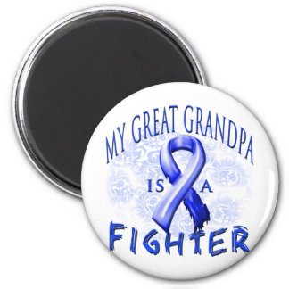 My Great Grandpa Is A Fighter Blue 6 Cm Round Magnet