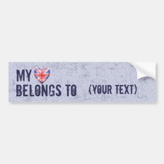 My Heart Belongs Bumper Sticker