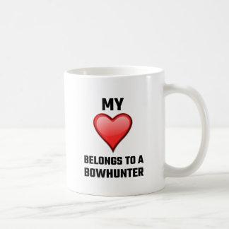 My Heart Belongs To A Bowhunter Basic White Mug