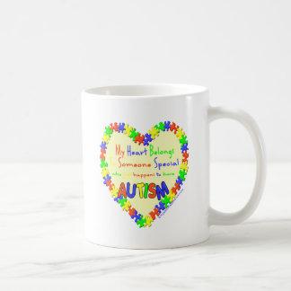 My heart belongs to someone basic white mug