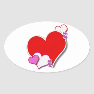 My Heart Oval Sticker