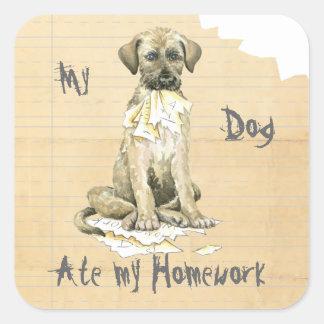 My Irish Wolfhound Ate My Homework Square Sticker