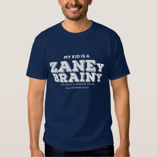 My Kid is a Zaney Brainy Mens Tee Navy