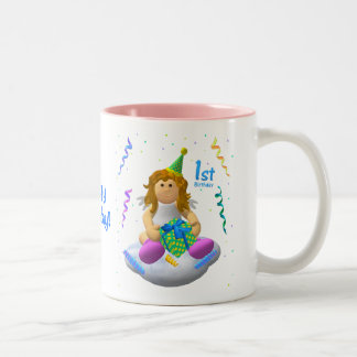 My Little Angel: First Birthday Two-Tone Mug