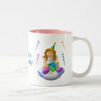My Little Angel: Happy Birthday Two-Tone Mug
