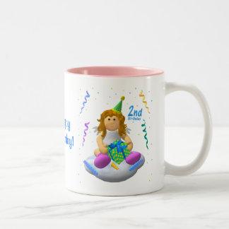 My Little Angel: Second Birthday Two-Tone Mug