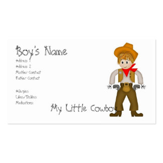 My Little Cowboy Mommy Cards Pack Of Standard Business Cards