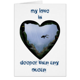 my love is deeper greeting card