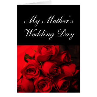 """""""My Mother's Wedding Day"""" - Crimson Roses [a] Greeting Card"""