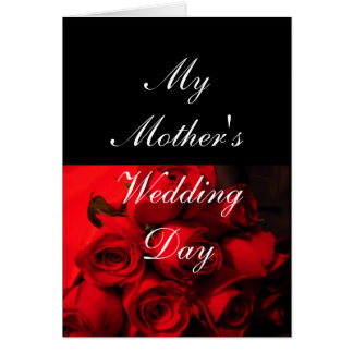 """""""My Mother's Wedding Day"""" - Crimson Roses [b] Greeting Card"""