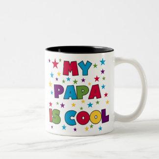 My Papa is Cool Two-Tone Mug