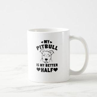 My Pitbull Is My Better Half Basic White Mug