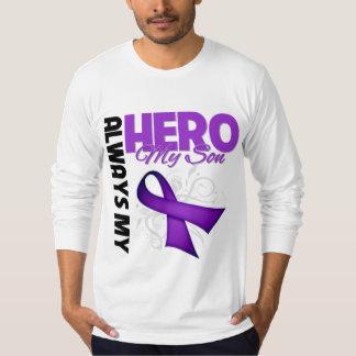 My Son Always My Hero - Purple Ribbon Tshirt
