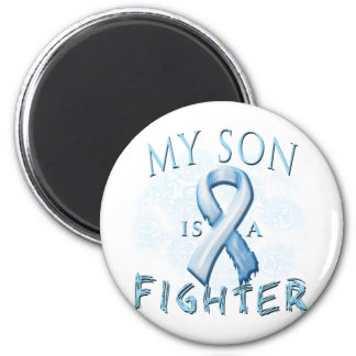 My Son is a Fighter Light Blue 6 Cm Round Magnet