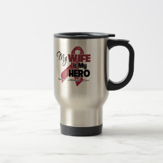 My Wife is My Hero - Multiple Myeloma Stainless Steel Travel Mug