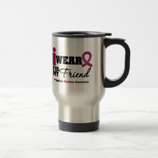 Myeloma I Wear Burgundy Ribbon Friend Stainless Steel Travel Mug