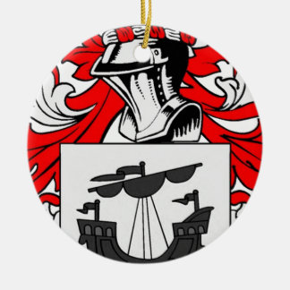 Myers Coat of Arms Round Ceramic Decoration