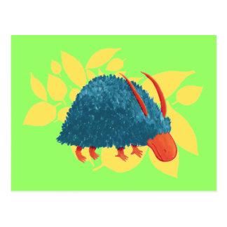 Mysterious shrub-monster postcard