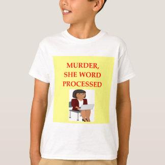 mystery writer t shirt