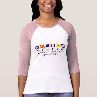 Mystic, CT - Longtitude & Latitude T Shirt