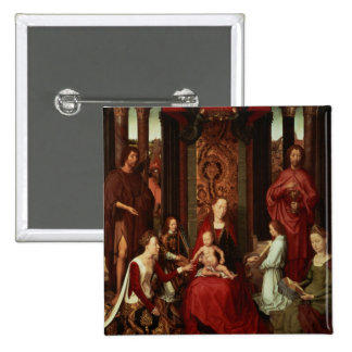 Mystic Marriage of St. Catherine and Other Saints 15 Cm Square Badge