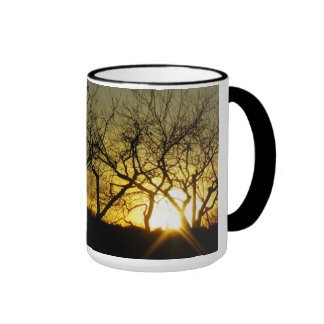 Mystical sundown ringer mug