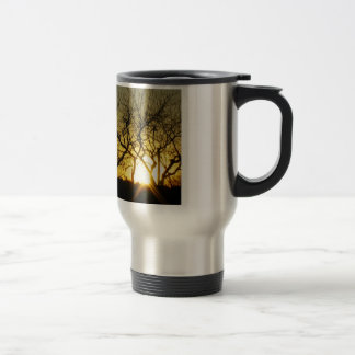 Mystical sundown stainless steel travel mug