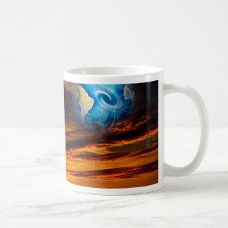 Mystical world, heavenly apparition basic white mug
