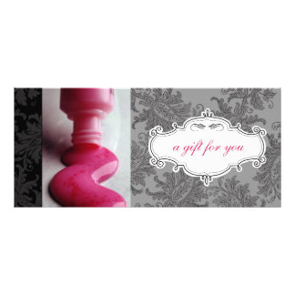 Nail Salon or Day Spa Gift Certificates Personalised Rack Card