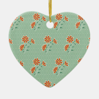 Naila Floral Batik Heart Ornament
