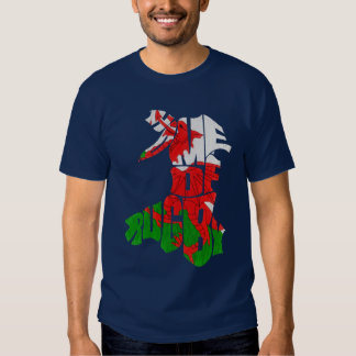 Name & Number Back Print Welsh Rugby T-Shirt